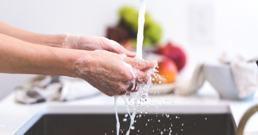 This photo demonstrates the importance of handwashing.